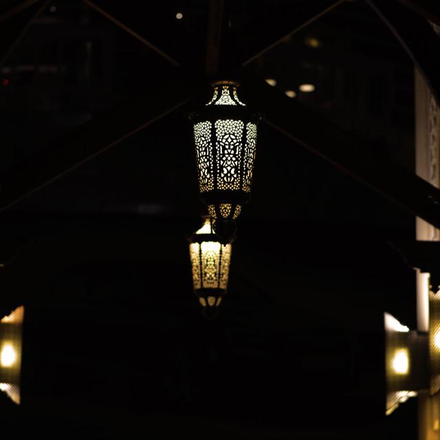 """""""night lanterns"""" stock image"""