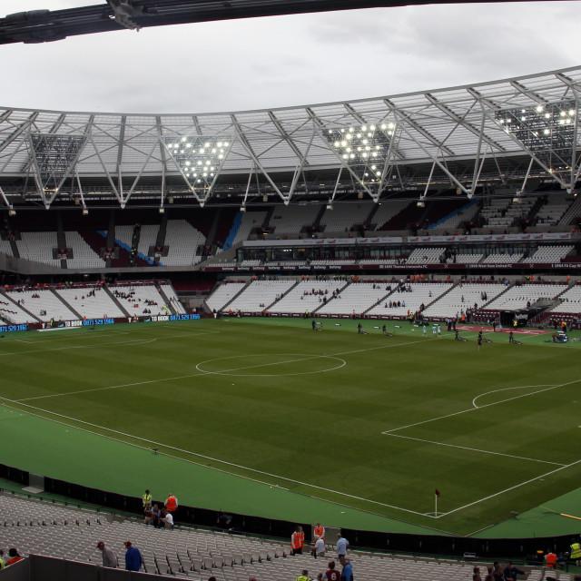 """Inside The London Stadium"" stock image"