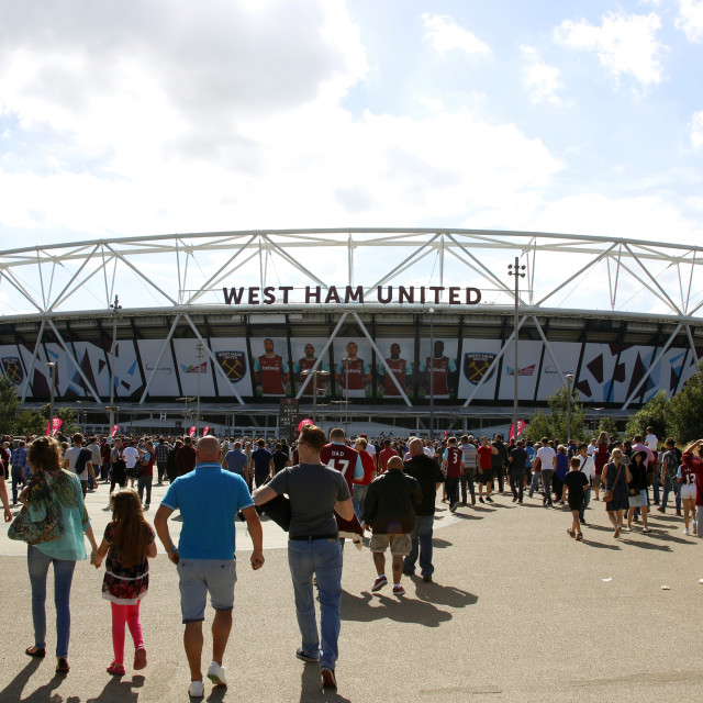 """""""Outside The London Stadium"""" stock image"""