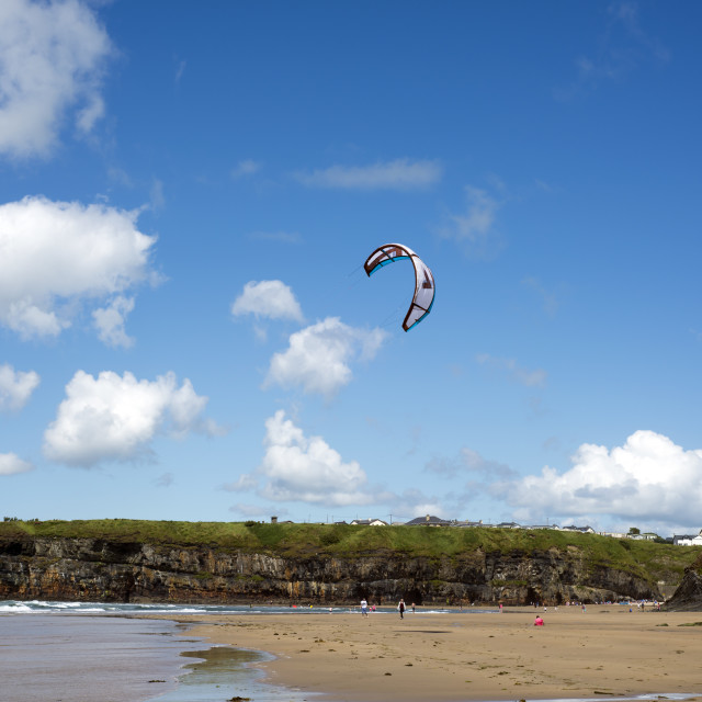"""""""kite surfer getting ready"""" stock image"""