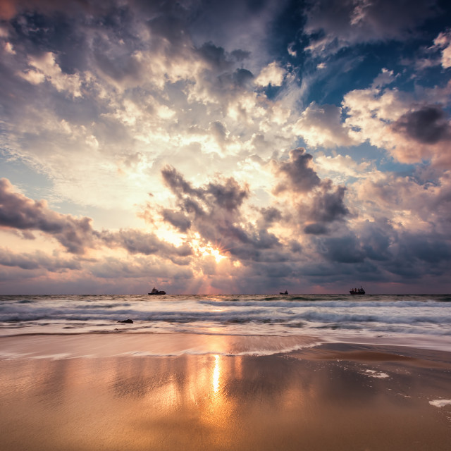 """Dramatic cloudscape over the sea"" stock image"