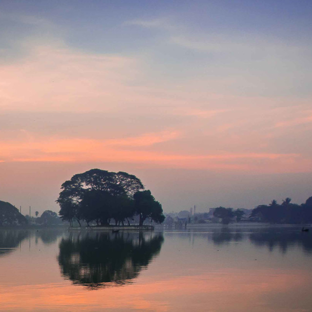 """Ulsoor Lake"" stock image"