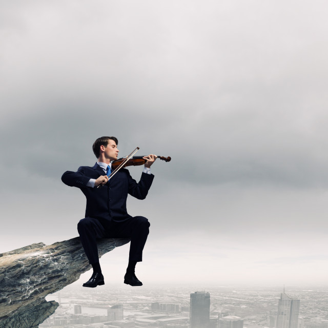 """""""Talented people are to be on top!"""" stock image"""