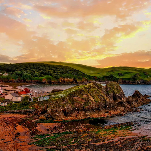 """Coastal scene in Devon"" stock image"