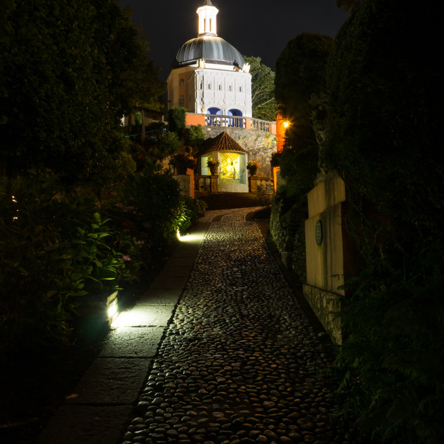 """Portmeirion at Night"" stock image"