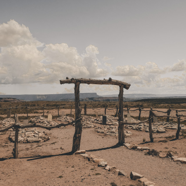"""Graveyard at Hualapai Ranch at Grand Canyon"" stock image"