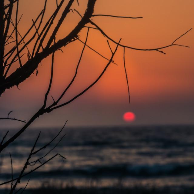 """Superb sunset"" stock image"
