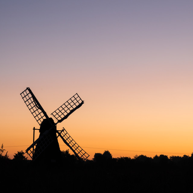 """Wicken Fen Sunrise"" stock image"