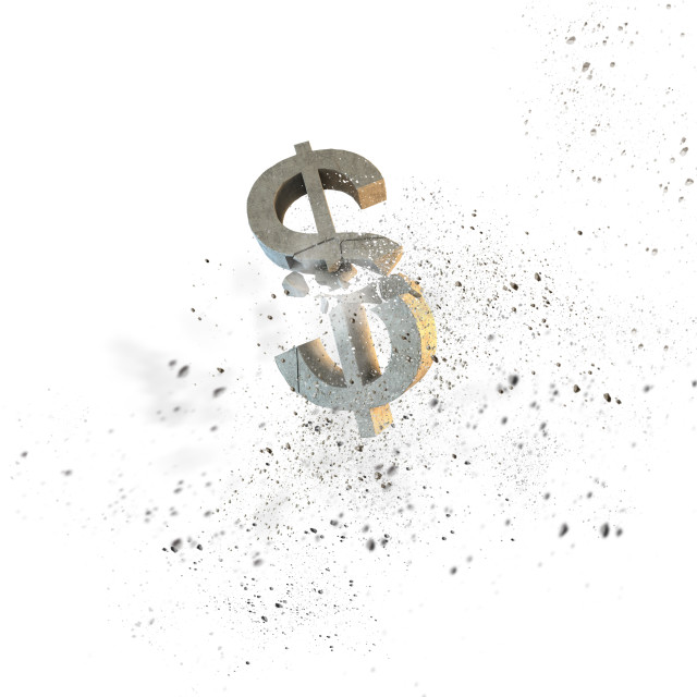 """Dollar fall"" stock image"