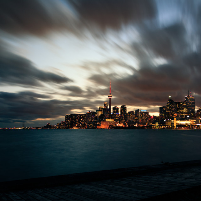 """Toronto, from Polson Pier"" stock image"