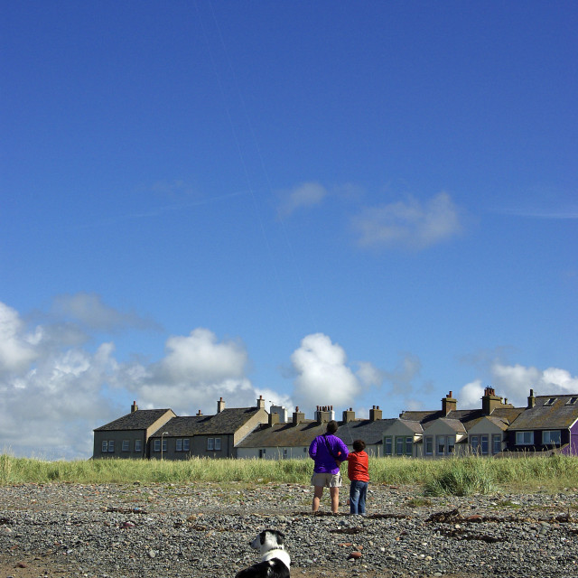 """Kite Flyers Allonby 1"" stock image"