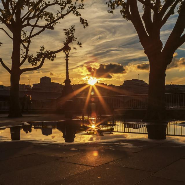 """Sunset On Southbank"" stock image"