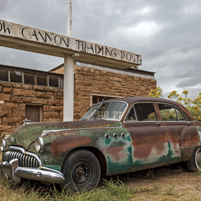 """Cow Canyon Trading Post"" stock image"