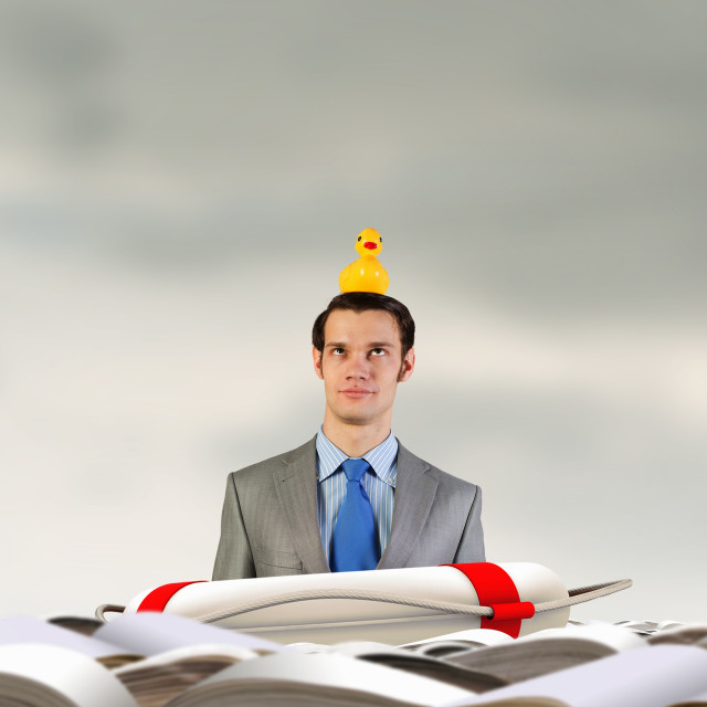 """""""Businessman with duck"""" stock image"""