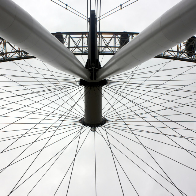 """Upside Down London Eye"" stock image"