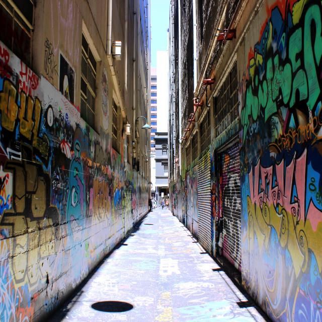 """Melbourne Street Art"" stock image"