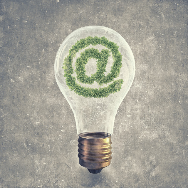 """Green email symbol"" stock image"