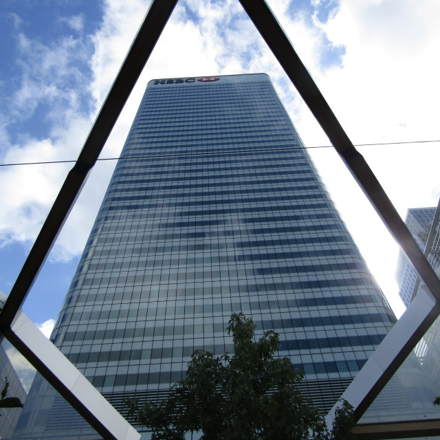 """HSBC tower, Canary Wharf, London"" stock image"