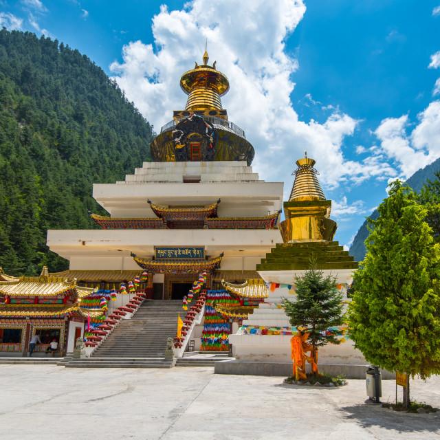 """Golden Stupas"" stock image"