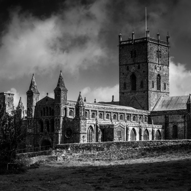 """St David's Cathedral."" stock image"