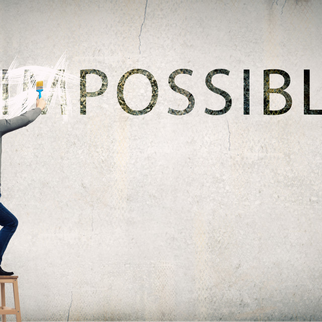 """Nothing is impossible"" stock image"