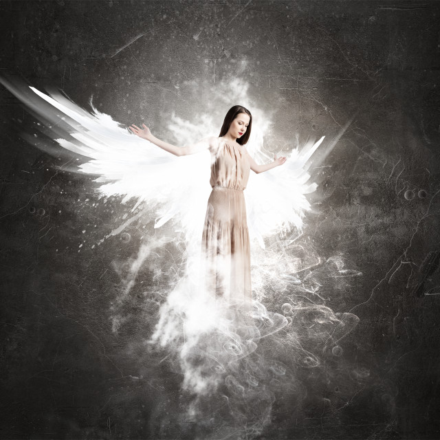 """Angel girl in dress"" stock image"