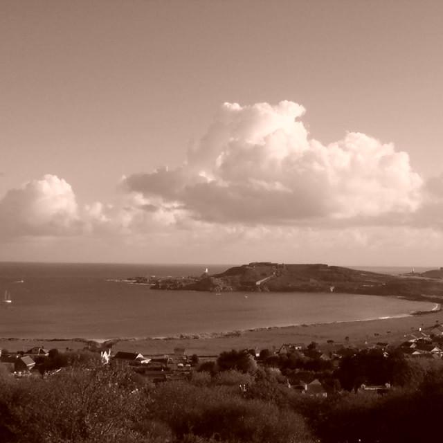 """""""Alderney Coastline"""" stock image"""