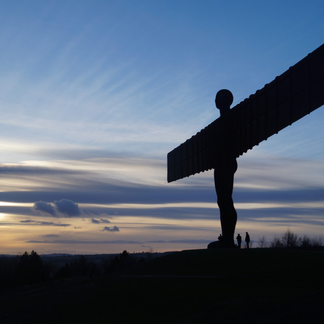 """Angel of the North 1"" stock image"