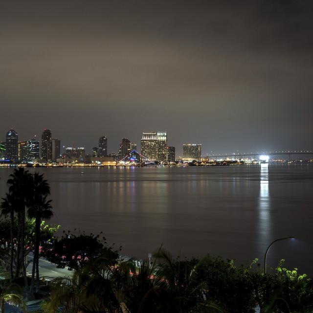 """San Diego Sky Line"" stock image"