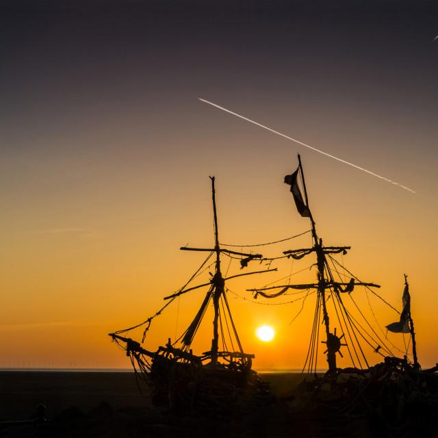 """Golden Hour Pirates"" stock image"