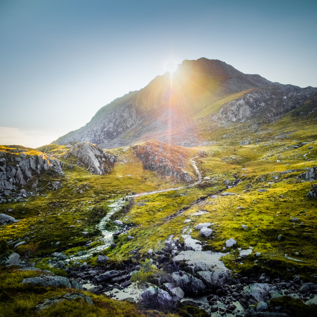 """The Path to Tryfan, Snowdonia"" stock image"