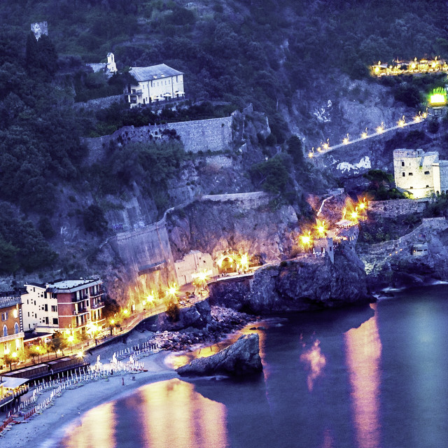 """NIGHT SHOT OF MONTEROSSO"" stock image"