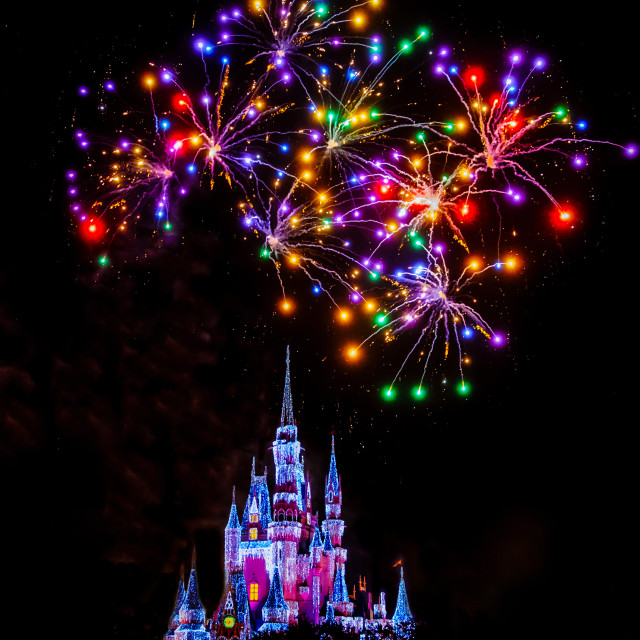 """Magic Kingdom Florida - Colour and Light"" stock image"