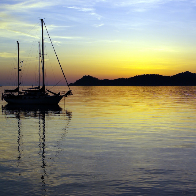 """Adriatic Sunset 2"" stock image"