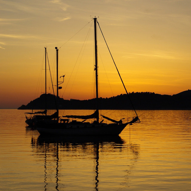"""Adriatic Sunset 3"" stock image"