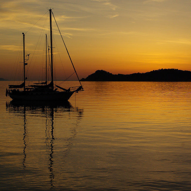 """Adriatic Sunset 4"" stock image"