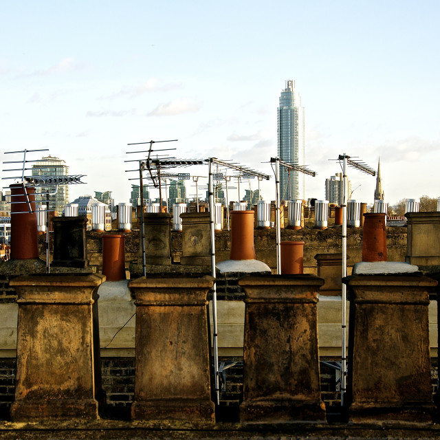 """The Roofs of South London"" stock image"