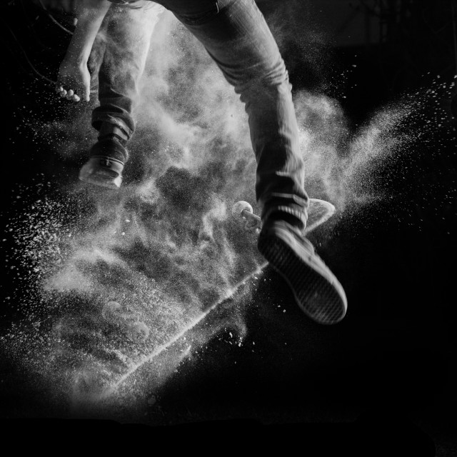 """skating and flour"" stock image"