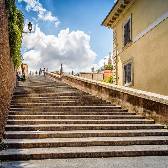 """Stairway in Rome"" stock image"