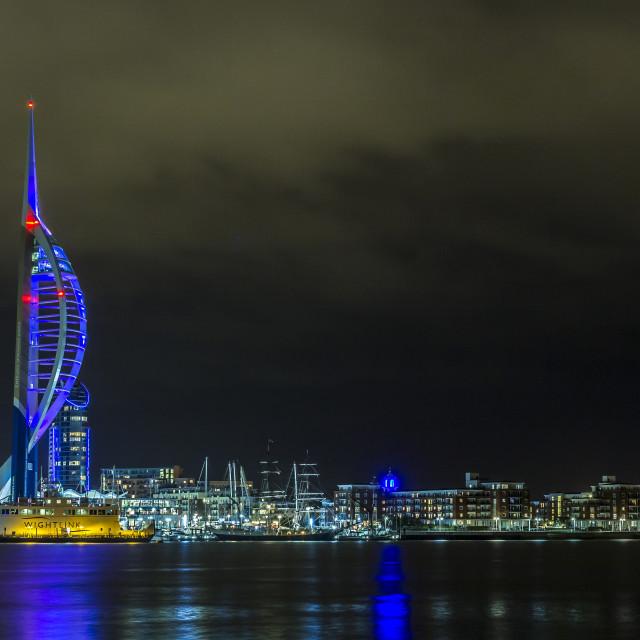 """Emirates Spinnaker Tower."" stock image"