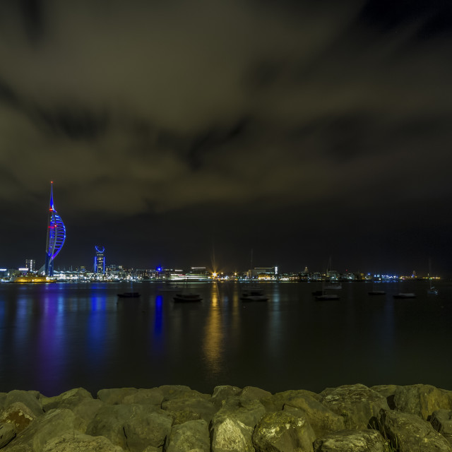 """""""Portsmouth Harbour."""" stock image"""