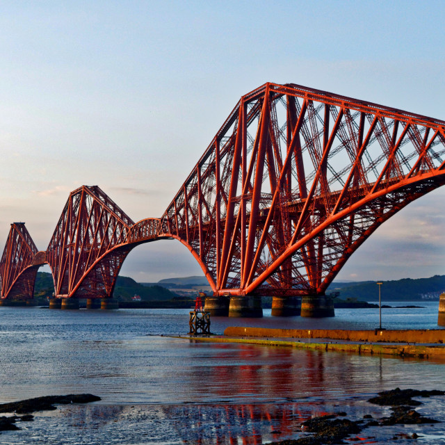"""Forth Bridge, Edinburgh"" stock image"