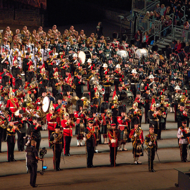 """Edinburgh Royal Military Tattoo"" stock image"