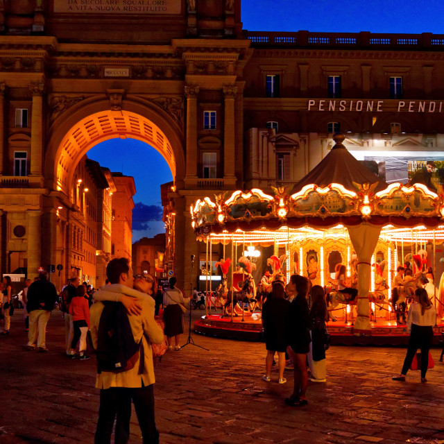 """""""Romance in Florence"""" stock image"""