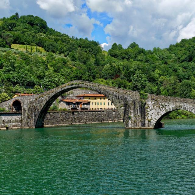 """Ponte della Maddelena"" stock image"