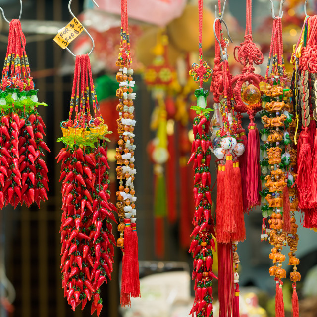 """Souvenir in gift shops at China town, Singapore"" stock image"
