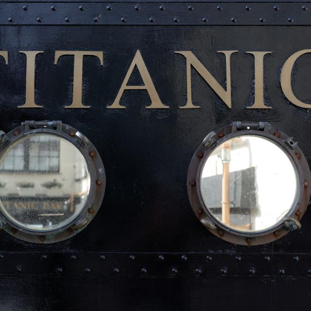 """""""titanic visiting centre in cobh"""" stock image"""