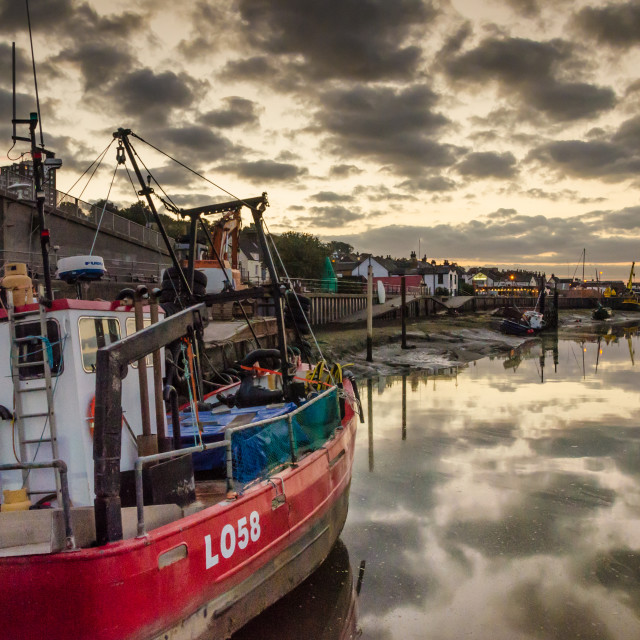 """Daybreak at Old Leigh"" stock image"
