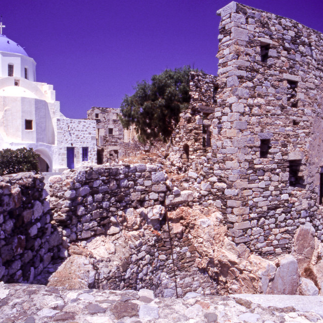 """""""Greece. Dodecanese Islands. Astypalaia. The Church Of Our Lady in the..."""" stock image"""