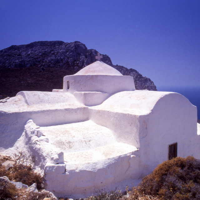 """""""Greece. Dodecanese Islands. Astypalaia. The church of Saint John. (Aghios..."""" stock image"""